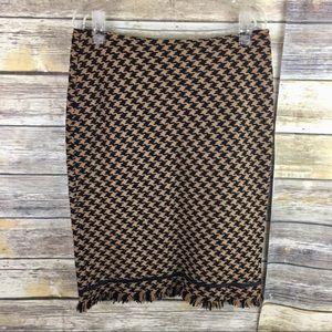 Inc international Wool Houndstooth Design Skirt